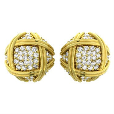 thumbnail image of Hammerman Brothers 18k Gold 2.65ctw Diamond Earrings