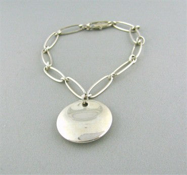 image of Estate Tiffany & Co Elsa Peretti Round Sterling Silver Bracelet