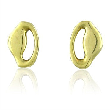 image of Vintage 1980 Tiffany & Co 18K Yellow Gold Earrings