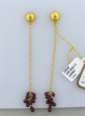 image of New Gurhan 24K Gold 6.29ctw Ruby Drop Earrings