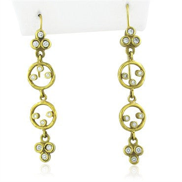 image of Seidengang 18K Yellow Gold Diamond Drop Earrings