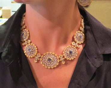 image of Important Buccellati Sapphire Diamond Necklace