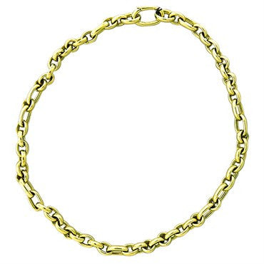 image of New Pomellato 18k Gold Chain Link Necklace 98.5g