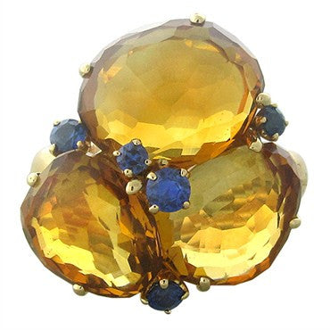 image of Pomellato Bahia 18K Rose Gold Madeira Citrine Sapphire Ring