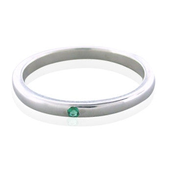 thumbnail image of Estate Tiffany & Co Elsa Peretti Sterling Emerald Ring