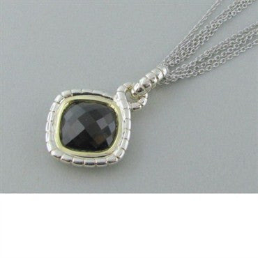thumbnail image of New Krypell Sterling 14k Gold Quartz Necklace