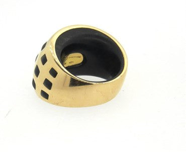 thumbnail image of Vhernier Jet 18k Gold Large Pirouette Ring