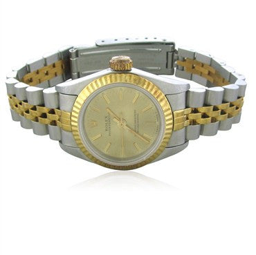 image of Ladies Rolex 18K Gold Stainless 6719 Oyster Perpetual Watch