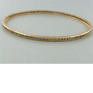 image of Sethi Coture 18k Gold 2.25ct Diamond Bangle Bracelet