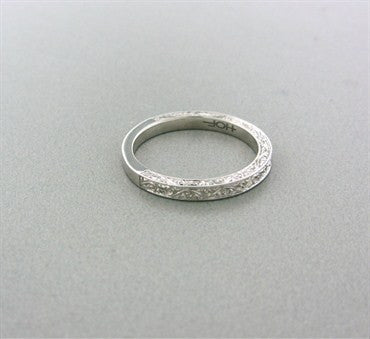 image of New Hearts On Fire Surrender 18K White Gold Wedding Band Ring