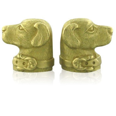 image of Kieselstein Cord 18k Gold Large Dog Cufflinks