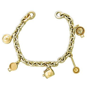 thumbnail image of New Pomellato 18k Gold Kitchenware Charm Bracelet