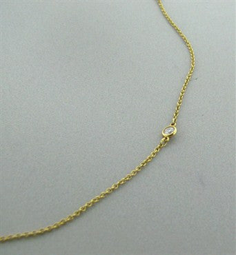 image of Tiffany & Co Peretti Diamonds By The Yard 18K Gold Diamond Necklace