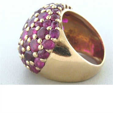 thumbnail image of Vintage Seaman Schepps 14k Gold Ruby Dome Ring