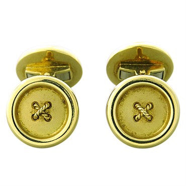 image of Deakin & Francis 18K Gold Button Cufflinks