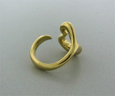 thumbnail image of Vintage Tiffany & Co Elsa Peretti 18K Yellow Gold Heart Ring