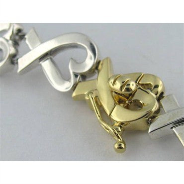 thumbnail image of Tiffany & Co Loving Hearts 18k Gold Sterling Necklace