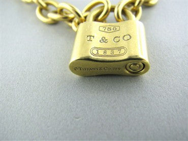 thumbnail image of Tiffany & Co Padlock 18K Gold Chain Link Necklace