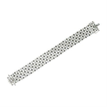 image of Salavetti 18k Gold 5.08ctw Diamond Bracelet