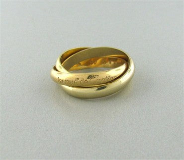 Cartier Trinity Les Must De Cartier 18K Gold Rolling Band Ring