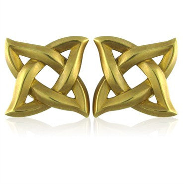 image of Estate Angela Cummings 18K Yellow Gold Earrings