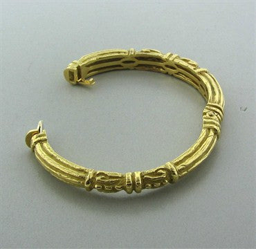 thumbnail image of Estate Katy Briscoe 18K Yellow Gold Bangle Bracelet