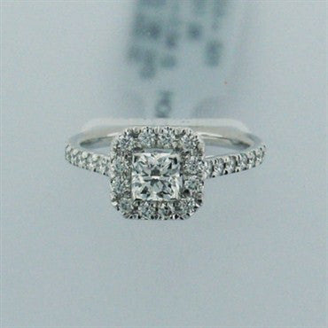 image of Hearts on Fire 18k Gold 1.04ctw Diamond Engagement Ring