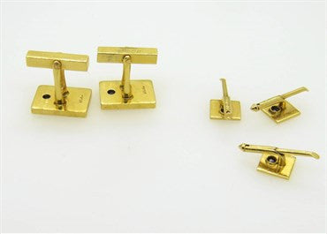 image of Tiffany & Co. Sapphire Gold Cufflinks Stud Set