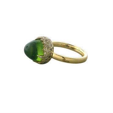thumbnail image of Pomellato Chimera 18K Gold Peridot Diamond Ring