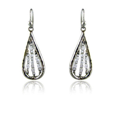 image of Gurhan Platinum Briolette Diamond Drop Earrings