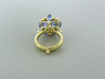 thumbnail image of Temple St. Clair 18K Yellow Gold Royal Blue Moonstone Diamond Ring