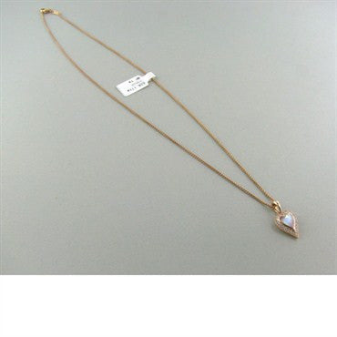 thumbnail image of New Kabana Gold Mother Of Pearl Diamond Heart Necklace