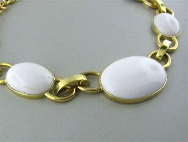image of New Faraone Mennella 18K Gold White Jade Necklace