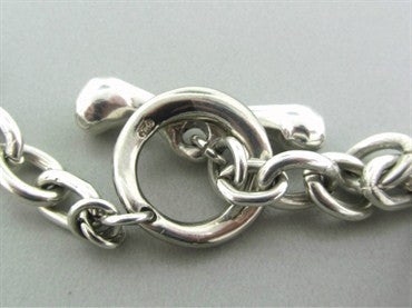 thumbnail image of Robert Lee Morris RLM Sterling Silver Multi Shape Link Necklace