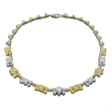 thumbnail image of Sam Lehr 18k Gold Platinum 3.30ctw Diamond Necklace