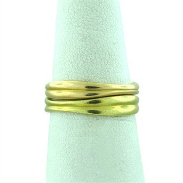image of Estate Tiffany 18k Yellow Gold Stackable Band Rings