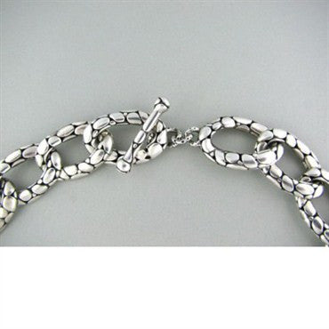 image of Wide John Hardy Kali Collection Sterling Link Necklace