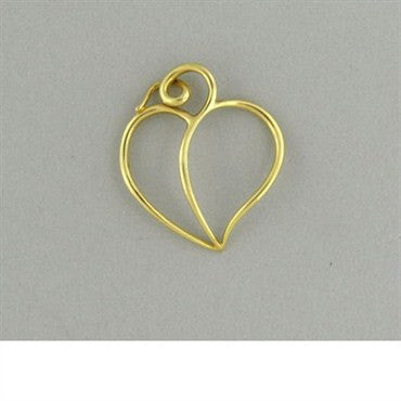 thumbnail image of Vintage Tiffany & Co Picasso 18k Gold Heart Pendant