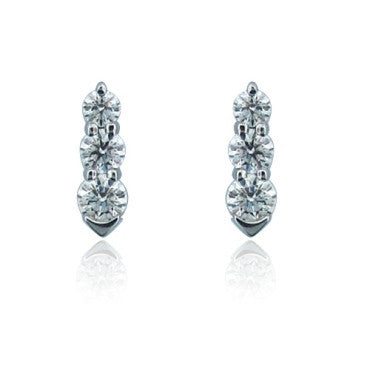 image of Hearts on Fire Illusion 18k Gold Diamond Earrings