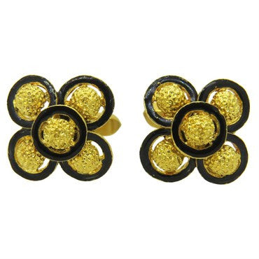 image of Spritzer & Furman Enamel Gold Cufflinks