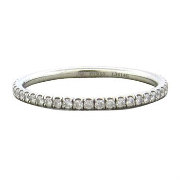 image of Harry Winston Platinum Diamond Eternity Wedding Band Ring