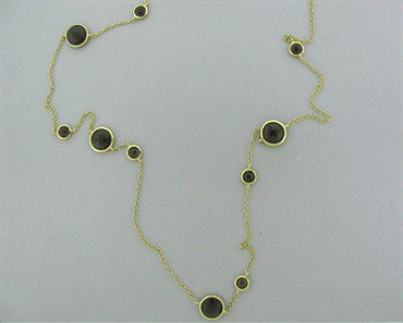 image of Ippolita Multi Lollipop Station 18k Yellow Gold Smokey Quartz Necklace