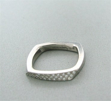 thumbnail image of Tiffany & Co Frank Gehry Torque 18k White Gold Diamond Ring