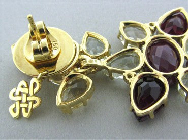 thumbnail image of H. Stern Harmony Collection 18K Gold Diamond Ruby Gemstone Earrings