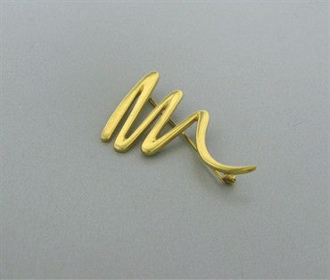 thumbnail image of Estate Tiffany & Co Paloma Picasso 18k Yellow Gold Zig Zag Brooch Pin