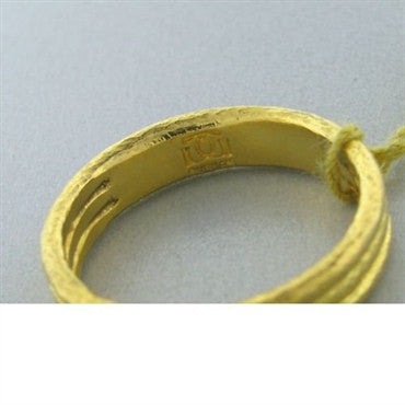 image of New Gurhan 24k Gold Mens Wedding Band Ring
