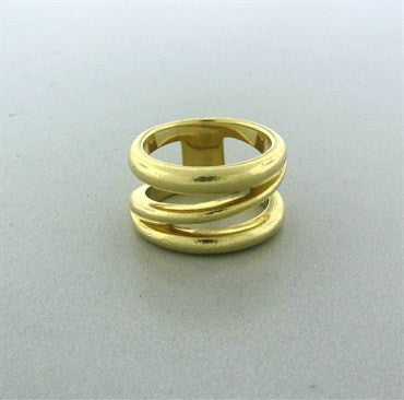 thumbnail image of Estate Tiffany & Co 18K Yellow Gold Wide Spring Band Ring