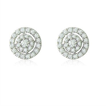 image of New Hearts On Fire Captivation 18K Gold 0.95ctw Diamond Stud Earrings