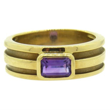 thumbnail image of Tiffany & Co. Amethyst Gold Ring