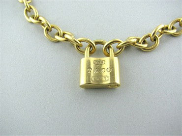 image of Tiffany & Co Padlock 18K Gold Chain Link Necklace